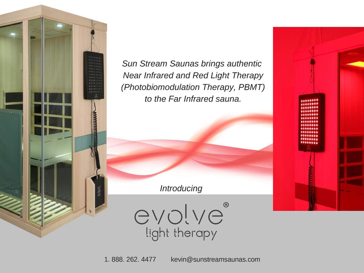 Sun Stream Saunas brings authentic Near Infrared and Red Light Therapy  Photobiomodulation Therapy, PBMT  to the Far Infra...